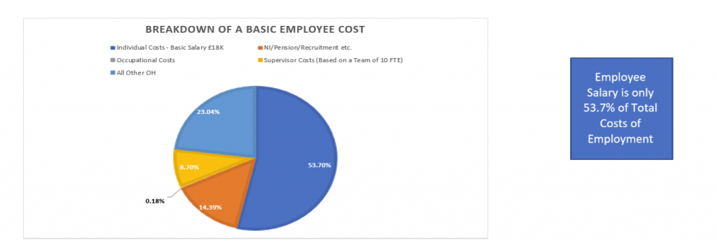 graph Break down of a basic empoyee costs